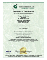 Tempco ISO 13485 Certification