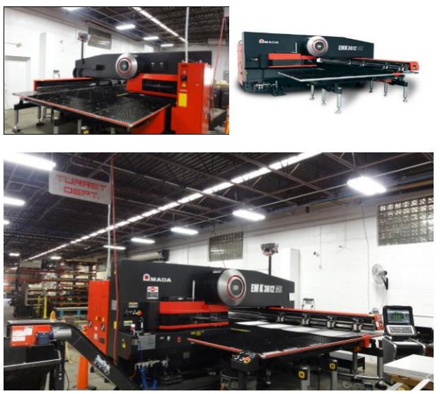 Amada Turret Press Superior Metal Stamping